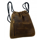 wholesale School Supplies: Sports bag /  OLD-SCHOOL - (25 )-Vintage- brown