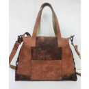 groothandel Handtassen: Shopper / Vintage  Club (25) -WASHED BROWN