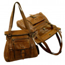 groothandel Handtassen: Casual Citybag /  ruige verbergen- (24) WASHED BROW