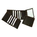 groothandel Sierraadkisten: LA BORSA / Clip  Wallet (20) -zwart / (25) Bruin