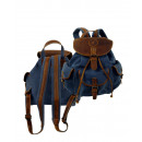 wholesale Backpacks: Biker backpack / SAILCLOTH- (26) -Canvas-blue