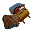 wholesale Handbags: CASUAL-MESSENGER / SAILCLOTH- (26) -Canvas-blue