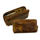wholesale USB-Accessories: Zip envelope / RUGGED-HIDE- (24) -WASHED-natural