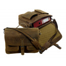 Briefcase /  OLD-SCHOOL - (25 )-Vintage- brown