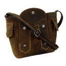 Großhandel Taschen & Reiseartikel: Umhängetasche / EDELWEISS - 25-brown