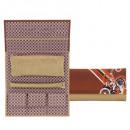 grossiste Boîtes et presentoirs bijoux: Bijoux roll,  diagonales, synthétiques, marron