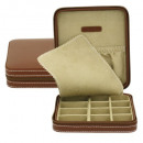 grossiste Bouton de Manchette: cufflink Zip, Cordoba, cuir, brun