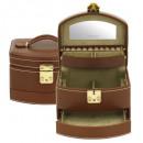 groothandel Sieraden & horloges: Jewel Box, Cordoba, leer, bruin