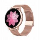 Women's smartwatch, gold case, metal bracelet