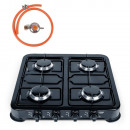 Four-burner gas cooking stoves + reducer