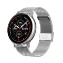 Women's smartwatch, silver case, silver strap