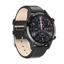Men's smartwatch, black case, black strap
