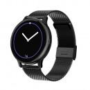 Women's smartwatch, black case, black bracelet