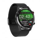 Men's smartwatch, black case, black bracelet