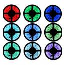 Großhandel Lichterketten: 5m Farbe RGB LED  Streifen, LED-Leuchten, Ledsor