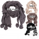 SCH 10grau scarves  with 2 pompoms in wholesale