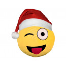 wholesale Cushions & Blankets: Santa Hat Emoticon Emoji Pillows wink yellow