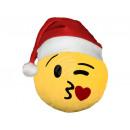 grossiste Coussins & Couvertures: Chapeau de Père Noël émoticônes Emoji coussins bai