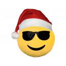grossiste Coussins & Couvertures: Chapeau de Père Noël émoticônes Emoji coussins jau