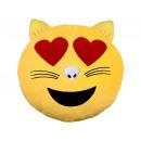 Cat Emoticon cuscino ama giallo