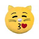 grossiste Coussins & Couvertures: Cat Emoticon  coussins picorent jaune