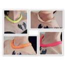Großhandel Ketten: N089 Halskette  NEON Neon 5 Farben gepanzert