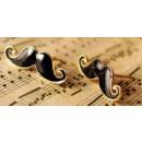 groothandel Sieraden & horloges: K010 HIT oorbellen  snor BLACK Vintage STIJL