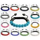 groothandel Armbanden: B039 Shamballa  Armband 9 kralen Swarovski