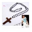 ingrosso Pendenti: N045 Collana  rosario Croce Vintage