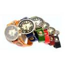 groothandel Sieraden & horloges: Z015 HIT kijken  grote cijfers retro lederen