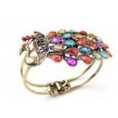 Großhandel Dekoration: B025 Armband PAW  Kristalle Strass D & L