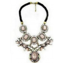 N101 Necklace Zarka NECKLACE crystals Roses Powder