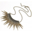 N103 Necklace NECKLACE spikes punk GOLD SPIKE