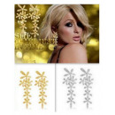 K100 FLOWERS LONG Earrings 2 colors HIT