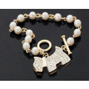 B022 Armband DOG hond Beads Crystals