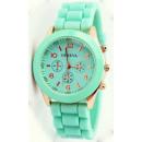 groothandel Sieraden & horloges: Kijk GENEVA Jelly  horloge Mint 7 kleuren