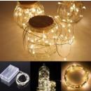 Druciki 50 LED lampki biała ciepła
