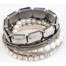 CRISTAUX Bracelet  B037 = 7CZ gemmes strass