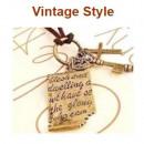 groothandel Sieraden & horloges: N035 Key Necklace  Letter Vintage Retro Style