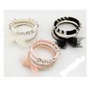 groothandel Armbanden: B031 Armband 6in1  MULTI 3 kleuren kristallen