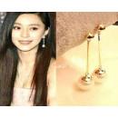 K111 perle boucles d'oreilles longues de style