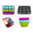 Großhandel Auflauf- und Backformen: Formen für Muffins Silikonformen 12-tlg