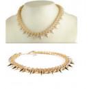 grossiste Bijoux & Montres: N051 Collier clouté cristaux GOLD