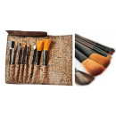 Großhandel Drogerie & Kosmetik: G078 Bürsten  MAKE-UP CASE 8 PC-Make-up
