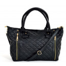 FASHIONABLE BAG  Schopper Quilted handbag bag BLACK
