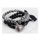 grossiste Bracelets: B018 MULTI4w1 arc  bracelet pendentif coeur