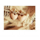 K102 pearl earrings HEARTS CROWN crystals