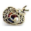 Großhandel Schmuck & Uhren: N031 Anhänger  Halskette Herz Azure Perlen D &