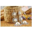 Großhandel Schmuck & Uhren: K019 3 Perlen -  Ohrringe Lange Vintage - Japan - A