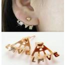 Großhandel Ohrringe: K115 LIEBE Kristall Ohrringe Retro - Vintage